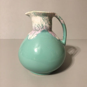 Other - Green purple & white handled pottery jug